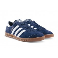 Мужские замшевые кеды Adidas Hamburg Blue/White