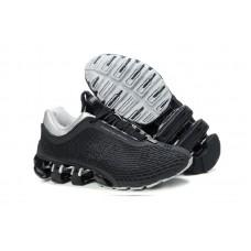 Мужские высокие осенние кроссовки Adidas Porsche Design Run Bounce (black/grey)
