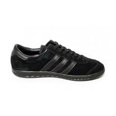 Замшевые черные кеды Adidas Hamburg Black