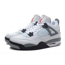 Баскетбольные кроссовки  NIKE AIR JORDAN 4 RETRO SILVER WHITE