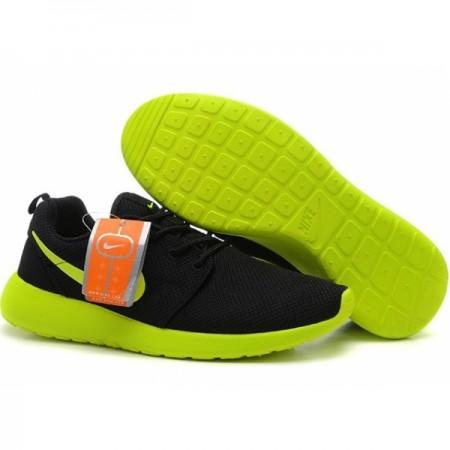 Эксклюзивная брендовая модель Кроссовки Nike Roshe Run Black/Green