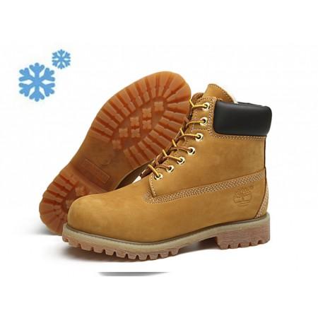 Эксклюзивная брендовая модель Зимние ботинки Timberland Classic Wheat Winter с мехом