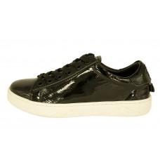 Женские кожаные лаковые кроссовки Christian Dior Cruise черные