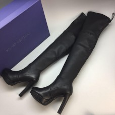 Ботфорты Stuart Weitzman Black High Leather