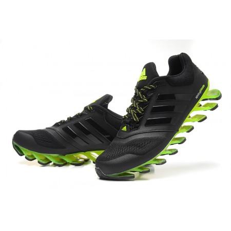 Эксклюзивная брендовая модель Мужские беговые кроссовки Adidas SpringBlade 2015 Black/Green II