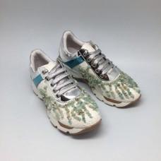 Женские кроссовки Prada FL Silver