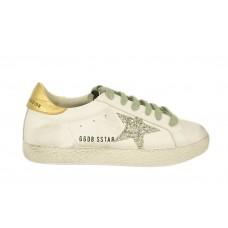 Кеды Golden Goose Deluxe Brand белые с золотым