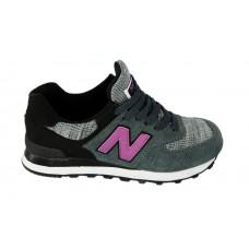 Женские летние кроссовки New Balance 574 Grey/Grey/Pink