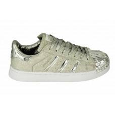 Женские серебристые кроссовки Adidas Superstar Silver