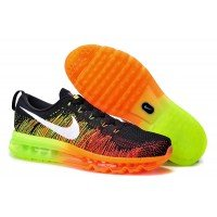 Кроссовки Air Max 2015 Flyknit (Black/Orange/Green)