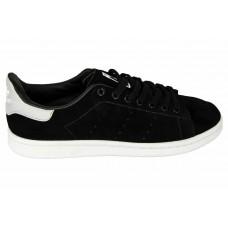 Мужские замшевые кроссовки Adidas Stan Smith Black