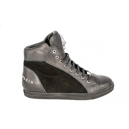 Эксклюзивная брендовая модель Мужские высокие брендовые осенние кроссовки Philipp Plein Anniston