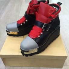 Женские ботинки Prada BlackRed Gold