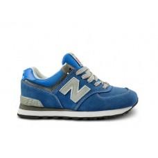 Женские летние кроссовки New Balance 574 Blue/White/Grey со скидкой