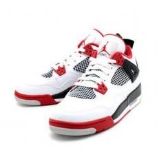Мужские баскетбольные кроссовки NIKE AIR JORDAN 4 WHITE/BLACK/RED