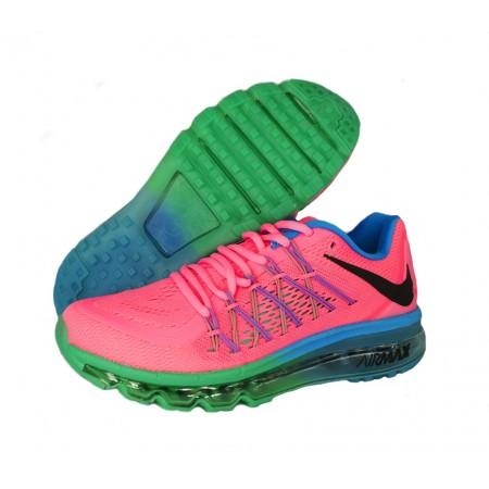 Эксклюзивная брендовая модель Кроссовки Nike Air Max 2015 Pink/Blue/Green