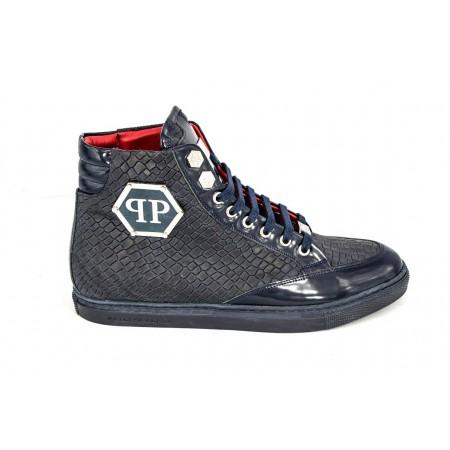 Эксклюзивная брендовая модель Мужские высокие осенние ботинки Philipp Plein Anniston