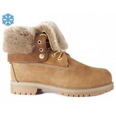 Женские зимние ботинки Timberland Teddy Albina Rust Brown с мехом