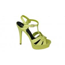 Женские босоножки Yves Saint Laurent Green