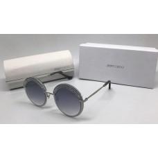 Женские солнцезащитные очки Jimmy Choo со стразами серые