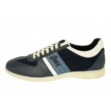 Мужские кожаные летние кроссовки Brioni синие