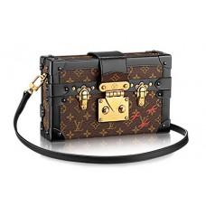 Женская  брендовая сумка (сундук) Louis Vuitton Petite Malle Monogram Broun