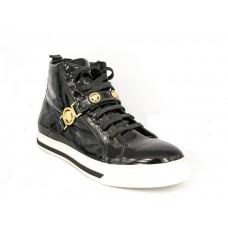 Зимние ботинки Versace Black Gold с МЕХОМ