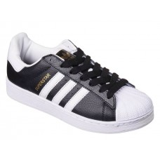 Кроссовки Adidas Superstar Black/White/Gold