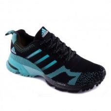 Мужские беговые кроссовки Adidas Marathon Flyknit Black/Blue
