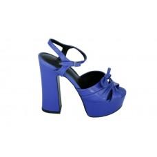 Женские босоножки Saint Laurent Blue