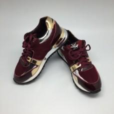 Женские брендовые кроссовки Louis Vuitton Run Away Sneakers Women Red