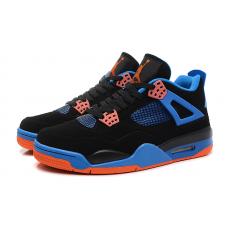 Мужские баскетбольные кроссовки Nike air jordan 4 Black/Blue