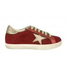 Кеды Golden Goose Deluxe Brand красные со звездой