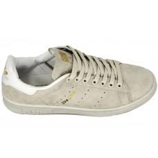 Мужские замшевые кроссовки Adidas Stan Smith Grey/White