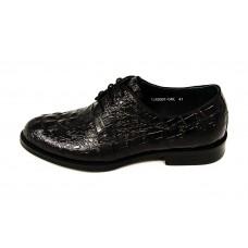Мужские кожаные осенние ботинки Louis Vuitton Emblem черные