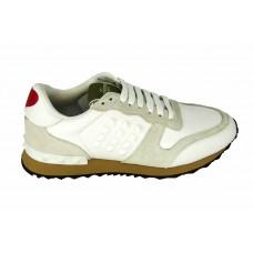Женские кожаные белые кроссовки Valentino Garavani Rockstud White