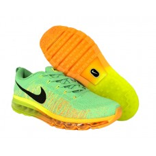 Кроссовки Air Max Flyknit Green/Orange