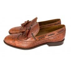 Мужские кожаные летние туфли Gucci коричневые