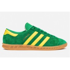 Замшевые кеды Adidas Hamburg Green/Yellow