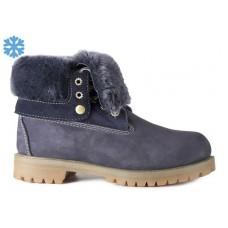 Женские зимние ботинки Timberland Teddy Albina Rust Navy с мехом