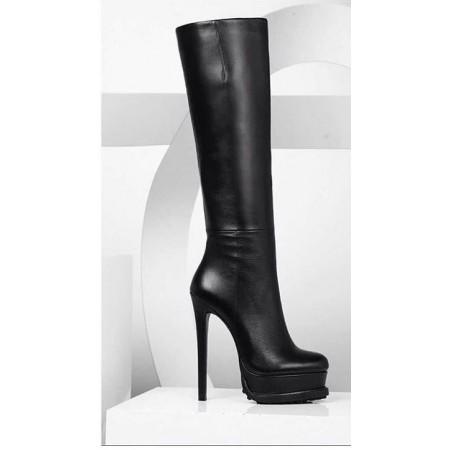 Эксклюзивная брендовая модель Женские сапоги Alaia Black D