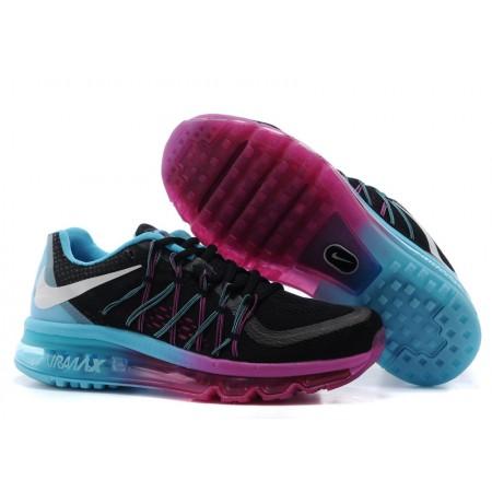 Эксклюзивная брендовая модель Кроссовки Nike Air Max 2015 Black/Purple/Blue