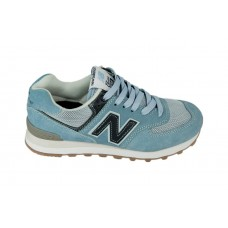 Женские летние кроссовки New Balance 574 Blue/Black