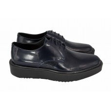 Ботинки Prada Oxford Blue Leather