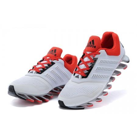 Эксклюзивная брендовая модель Мужские беговые кроссовки Adidas SpringBlade White/Red