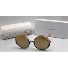 Женские солнцезащитные очки Jimmy Choo со стразами золотые