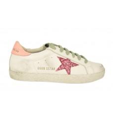 Кеды Golden Goose Deluxe Brand белые с розовым