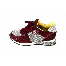 Женские брендовые кроссовки Louis Vuitton Run Away Sneakers Women Bordo