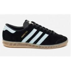 Мужские замшевые кеды Adidas Hamburg Black/White
