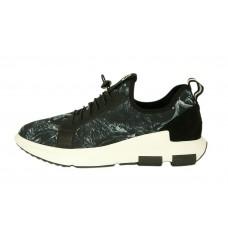 Мужские кроссовки Adidas Yohji Yamamoto с принтом на белой подошве